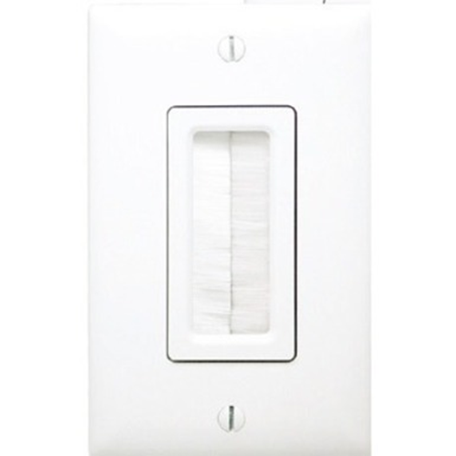 On-Q/Legrand Cable Access Wall Plate, White