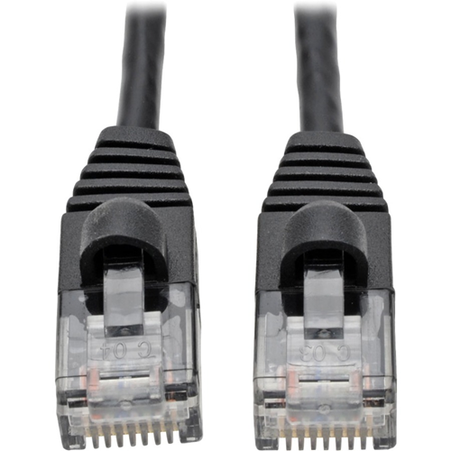 CABLE CAT6A SLIM UTP NTWK PATCH BLK 1 FT