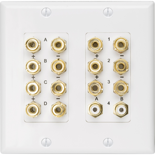 HOME THEATER WALLPLATE, WHITE