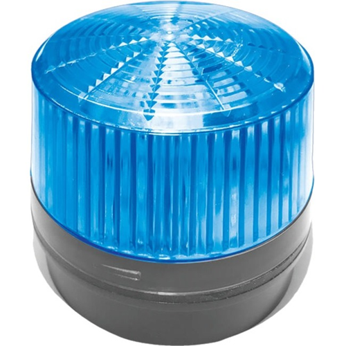 12 V DC - Visual, Audible - Surface Mount - Blue