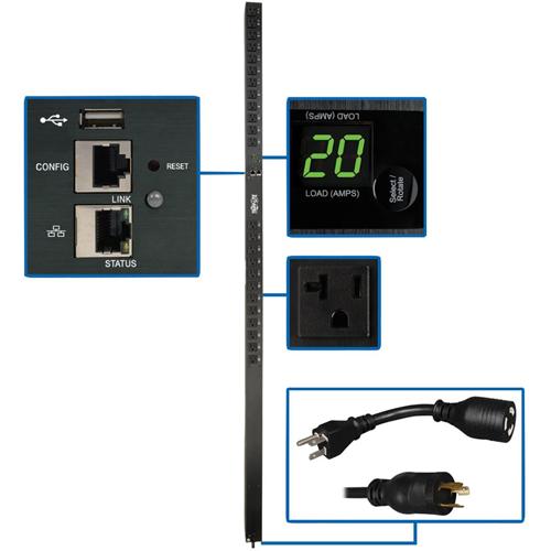 Tripp Lite PDU Switched 1.9kW 120V 24 5-15/20R 20A LX Platform 0URM TAA