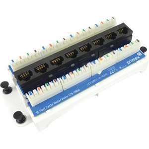 Primex 8-Port Cat5e Data/Voice Module