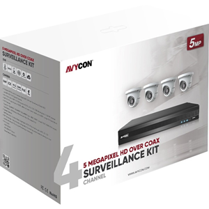 4CH 5MP TVI KIT 4 CAMS 1TB