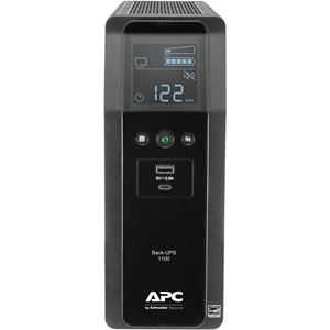 Back UPS PRO BN 1100VA,10 Outlets, 2 USB Charging Ports, AVR, LCD interface