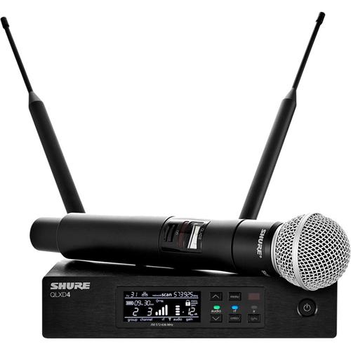 Shure QLXD24/SM58 System with QLXD2/SM58 Handheld Transmitter
