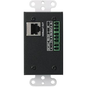 1-gang - Black - Metal - 1 x HDMI Port(s) - 1 x RJ-45 Port(s)