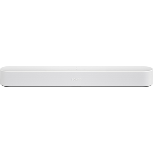 SONOS BEAM compact soundbar.  The smart, compact soundbar for your TV. The new Sonos Beam with Amazon Alexa. White.