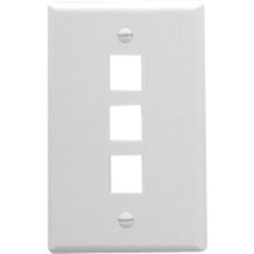 Face Plate, Oversized, 3-Port, White