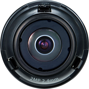 Hanwha Techwin SLA-2M2400Q - 2.40 mm - f/2 - Fixed Focal Length Lens for M12-mount
