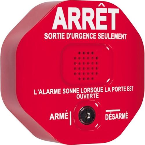 105 dB - Audible - Door Mount - Red