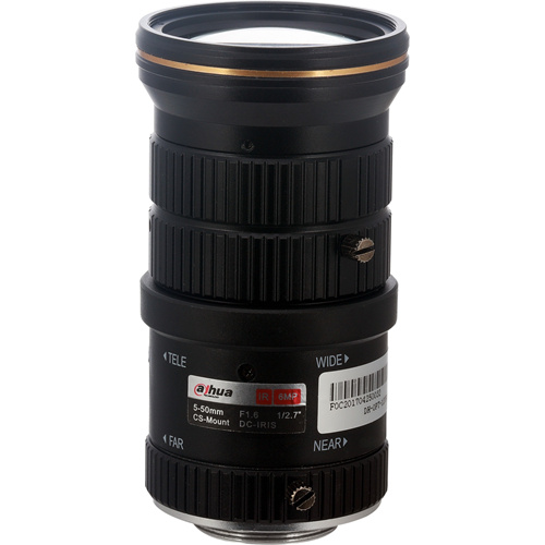 Dahua - 5 mm to 50 mm - f/1.6 - Zoom Lens for CS Mount