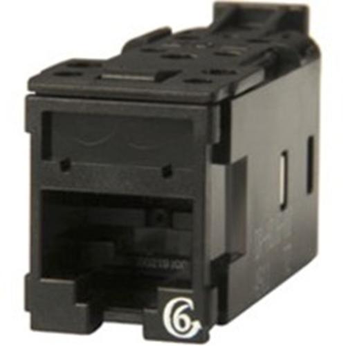 Ortronics Clarity Cat6 High Density Jack,T568A/B, 8 pos, Black