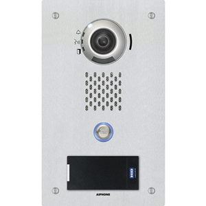 Aiphone IP Addressable Video Door Station with Card Reader for the IX Series