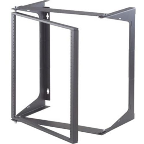 """Ortronics Swing-EZ Wall Rack, Black, 18.00""""D"""