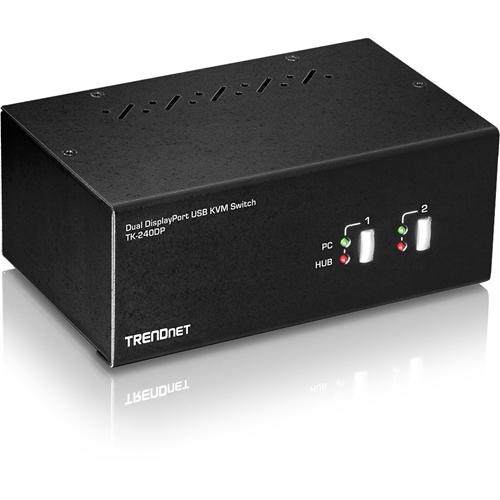 TRENDnet 2-Port Dual Monitor Display Port KVM Switch