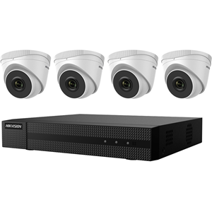 KIT, FOUR 2MP OUTDOOR TURRET CAMERAS WITH 2.8MM LE