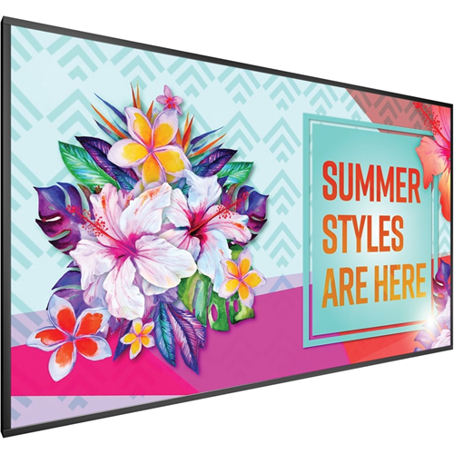 FACTORY DIRECT ITEM ONLY: 100in diagonal, 20 pt IR touch, UHD, wide color gamut panel, LED backlight, 24x7 reliability, metal bezel, landscape and portrait, wide array of inputs, OPS slot, 700 nit brightness, speakers, RS232 and LAN control Single TouchMa
