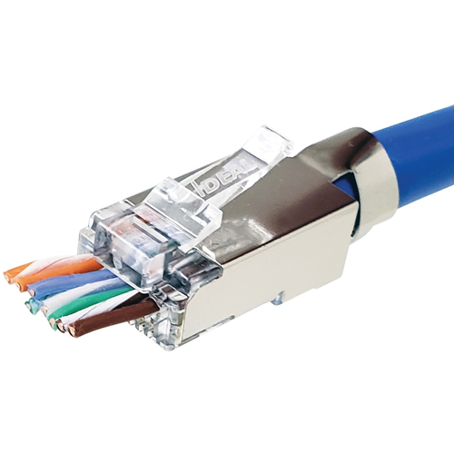 SHIELDED FEEDTHRU CAT6A/6/5E 25/PK