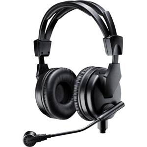 PREMIUM DUAL-SIDED BROADCAST HEADSET. INCLUDES BCA
