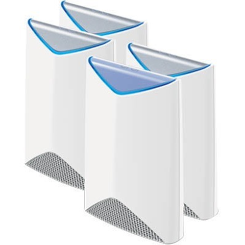 The Orbi Pro AC3000 Tri-band WiFi System by NETGEAR comes with an Orbi Pro Router and 3 Satellites that provide seamless, high-speed WiFi with high-performance FastLane3 patented Tri-band AC3000 technology. It provides WiFi for up to 40 users per device a