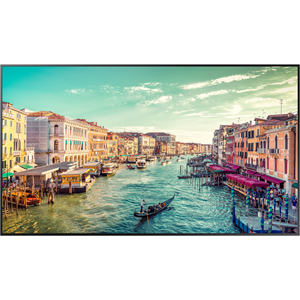 65-inch Commercial 4K (3,840 x 2,160) UHD LED LCD Display, 500 NIT. Contrast Ratio 4,000:1. Response Time 8ms. Brightness 500 nits. Viewing Angle 178/178. Pixel Pitch 0.124 x 0.372 (mm).