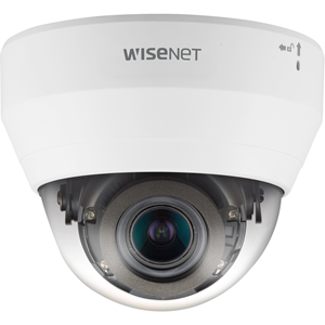 Wisenet Q network indoor dome camera 2MP @ 30fps motorized vari-focal lens 3.1x (3.2 ~ 10.0mm) (109 ~33 ) triple codec H.265/H.264/MJPEG with Wisestream II 120dB WDR IR LEDs range 98ft.