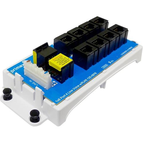 Primex 8-Port 4-Line Voice Module W/RJ45
