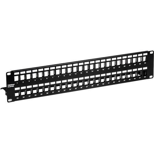 TRENDnet 48-Port Blank Keystone Shielded Patch Panel