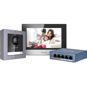 Hikvision AC DS-KIS602 2nd Gen Intercom Kit OUT IN station Standard PoE SWT