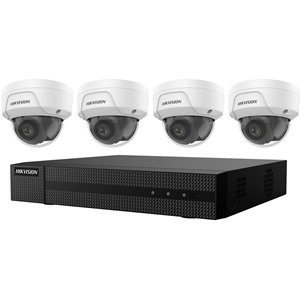 KIT, FOUR 4MP OUTDOOR DOME CAMERAS WITH 2.8MM LENS