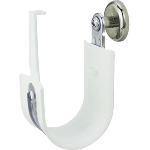 "Platinum Tools 2"" Side Mount Magnet HPH J-Hook, White, Box of 10"