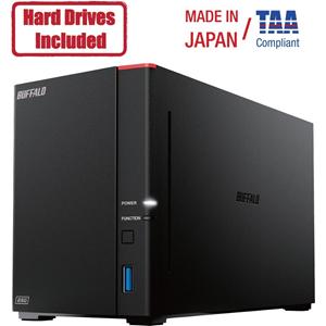 Buffalo LinkStation SoHo 720DB 4TB Hard Drives Included (2 x 2TB, 2 Bay)