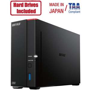 Buffalo LinkStation 710D 4TB Hard Drives Included (1 x 4TB, 1 Bay)