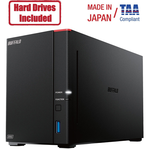 Buffalo LinkStation 720D 16TB Hard Drives Included (2 x 8TB, 2 Bay)