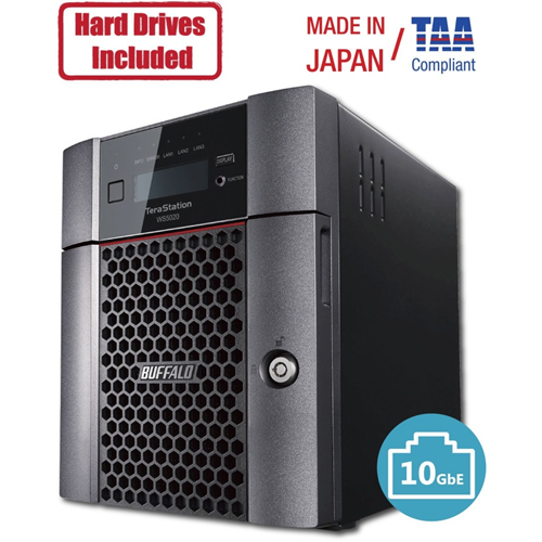 Buffalo TeraStation 5420DN Windows Server IoT 2019 Standard 8TB 4 Bay Desktop (4x2TB) NAS Hard Drives Included RAID iSCSI