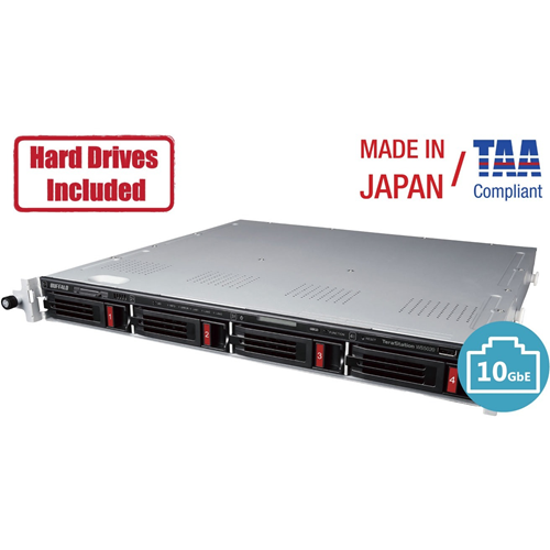 Buffalo TeraStation 5420RN Windows Server IoT 2019 Standard 16TB 4 Bay Rackmount (4x4TB) NAS Hard Drives Included RAID iSCSI