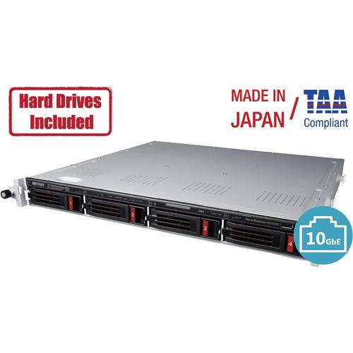 Buffalo TeraStation 5420RN Windows Server IoT 2019 Standard 40TB 4 Bay Rackmount (4x10TB) NAS NAS Hard Drives Included RAID iSCSI