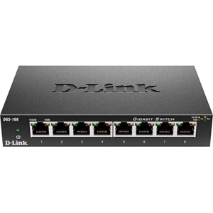 DGS-108 8PORT GIGABIT QOS SWITCH METAL STD-SW PERP