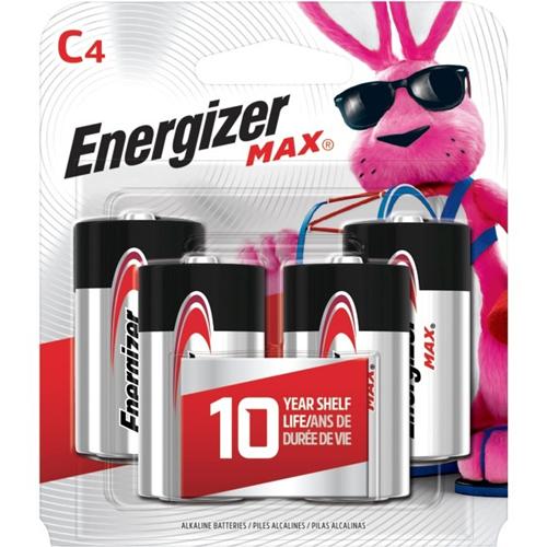 Energizer MAX Alkaline C Batteries, 4 Pack