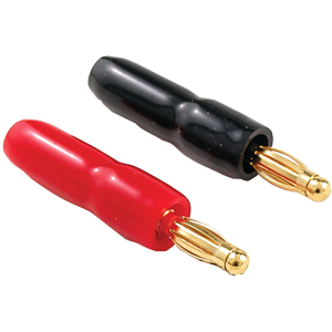 """""""Gold-Plated, Crimp-on Banana Plugs (Crimp-on type banana plugs (color-coded, 16-pk��8 red/8 black))� Autoformer-based � Equipped with MB-4 wiring harness connection systems (SLX8 includes 2, SLX12 includes 3) � Rated at 150W RMS per channel"""