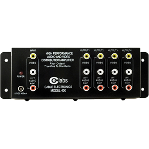 CE Labs AV 400 Prograde Composite A/V Distribution Amplifiers (4-out)