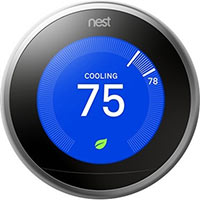 Nest Learning Thermostat, 3rd Gen - Stainless Steel - Pro Sku