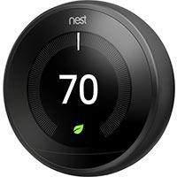 Google T3016US Nest Learning Thermostat, Carbon Black, 3rd Gen