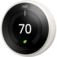 Google T3017US Nest Learning Thermostat, White, 3rd Gen