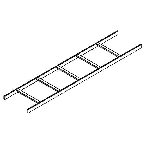 Ladder Tubular 12 In X 10ft Black