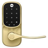 Yale YRL226-ZW2-605 Z-Wave Plus Assure Touchscreen Keypad Lever Lock, Polished Brass