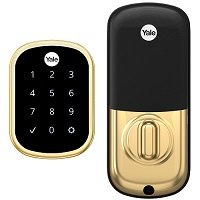 Yale Yrd156 Key Free Touchscreen Deadbolt With Z-Wave Plus - Yale Pro Series, Brass