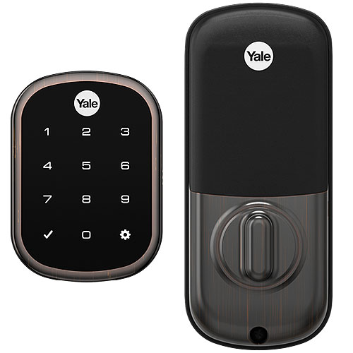 Yale Yrd156 Key Free Touchscreen Deadbolt With Z-Wave Plus - Yale Pro Series, Bronze