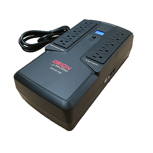 Orion Power OP750U-LCD Office Pro LCD Flat Style 750VA/450W UPS Battery Backup with Touchscreen LCD