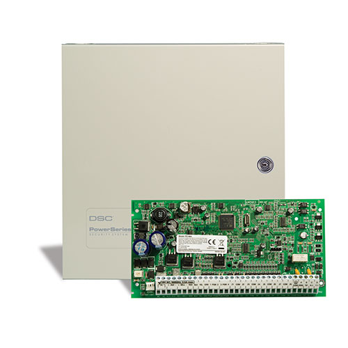 DSC PC1864NKCP01 PowerSeries Control Panel 1864 Board and Cabinet